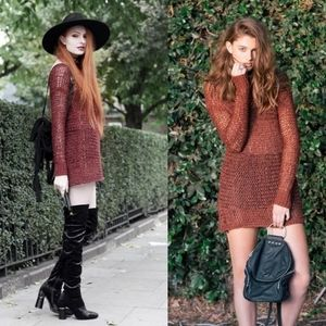 UNIF Deon open knit sweater/dress
